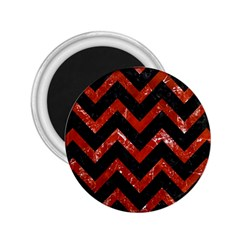 Chevron9 Black Marble & Red Marble 2 25  Magnet by trendistuff