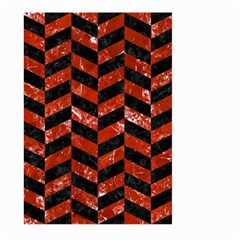 Chevron1 Black Marble & Red Marble Large Garden Flag (two Sides) by trendistuff