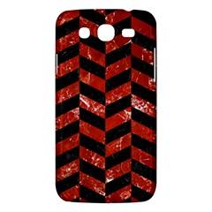 Chevron1 Black Marble & Red Marble Samsung Galaxy Mega 5 8 I9152 Hardshell Case  by trendistuff