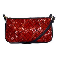 Brick2 Black Marble & Red Marble (r) Shoulder Clutch Bag by trendistuff
