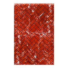 Brick2 Black Marble & Red Marble (r) Shower Curtain 48  X 72  (small) by trendistuff