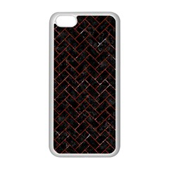 Brick2 Black Marble & Red Marble Apple Iphone 5c Seamless Case (white) by trendistuff