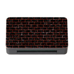 Brick1 Black Marble & Red Marble Memory Card Reader With Cf by trendistuff