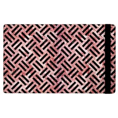 Woven2 Black Marble & Red & White Marble (r) Apple Ipad 3/4 Flip Case by trendistuff