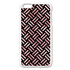 Woven2 Black Marble & Red & White Marble Apple Iphone 6 Plus/6s Plus Enamel White Case by trendistuff