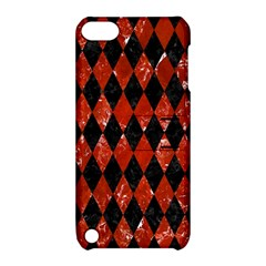 Diamond1 Black Marble & Red Marble Apple Ipod Touch 5 Hardshell Case With Stand by trendistuff