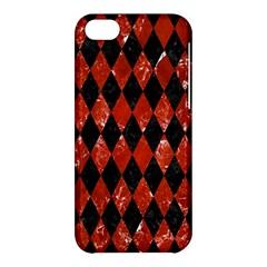 Diamond1 Black Marble & Red Marble Apple Iphone 5c Hardshell Case by trendistuff