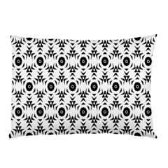 Black White Flower Pillow Case by Jojostore