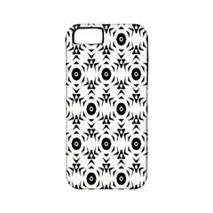 Black White Flower Apple Iphone 5 Classic Hardshell Case (pc+silicone) by Jojostore