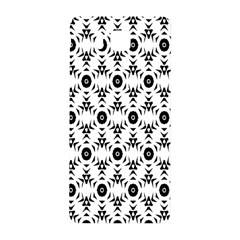 Black White Flower Samsung Galaxy Alpha Hardshell Back Case by Jojostore