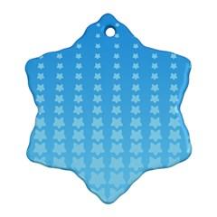 Blue Stars Background Line Snowflake Ornament (2-Side) by Jojostore
