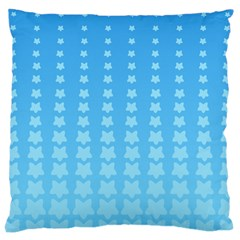 Blue Stars Background Line Large Cushion Case (two Sides) by Jojostore