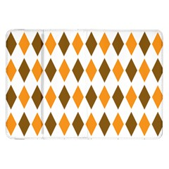 Brown Orange Retro Diamond Copy Samsung Galaxy Tab 8 9  P7300 Flip Case by Jojostore