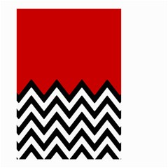 Chevron Red Small Garden Flag (two Sides) by Jojostore
