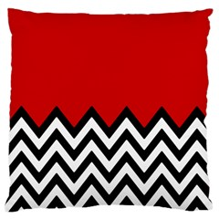Chevron Red Standard Flano Cushion Case (one Side) by Jojostore