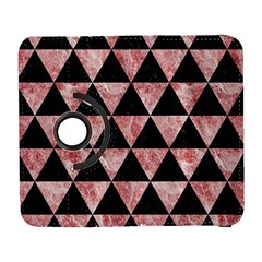 Triangle3 Black Marble & Red & White Marble Samsung Galaxy S  Iii Flip 360 Case by trendistuff