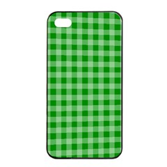 Gingham Background Fabric Texture Apple Iphone 4/4s Seamless Case (black) by Jojostore