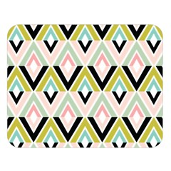 Chevron Pink Green Copy Double Sided Flano Blanket (large)  by Jojostore