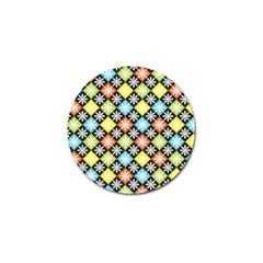 Diamond Argyle Pattern Flower Golf Ball Marker (10 Pack) by Jojostore