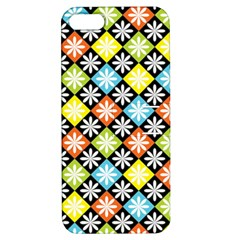 Diamond Argyle Pattern Flower Apple Iphone 5 Hardshell Case With Stand by Jojostore