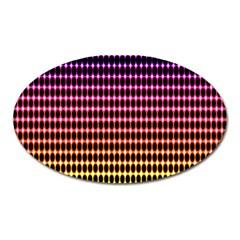 Halftone Pattern Rainbow Oval Magnet by Jojostore