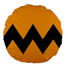 Minimal Modern Simple Orange Large 18  Premium Flano Round Cushions by Jojostore