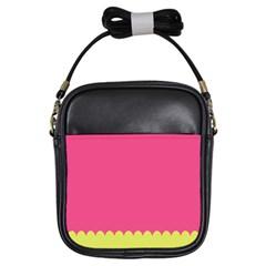 Pink Yellow Girls Sling Bags by Jojostore