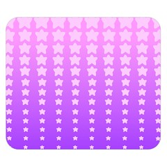 Purple And Pink Stars Double Sided Flano Blanket (Small)  by Jojostore