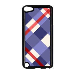 Red And Purple Plaid Apple Ipod Touch 5 Case (black) by Jojostore