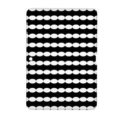 Silhouette Overlay Oval Samsung Galaxy Tab 2 (10.1 ) P5100 Hardshell Case  by Jojostore