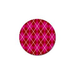 Texture Background Argyle Pink Red Golf Ball Marker (4 Pack) by Jojostore