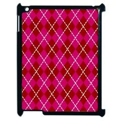Texture Background Argyle Pink Red Apple Ipad 2 Case (black) by Jojostore