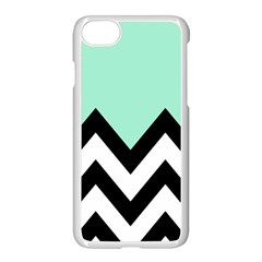Mint Green Chevron Apple Iphone 7 Seamless Case (white)