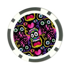 Monster Face Mask Patten Cartoons Poker Chip Card Guards (10 pack)  by Jojostore