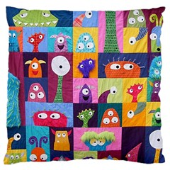 Monster Quilt Standard Flano Cushion Case (one Side) by Jojostore