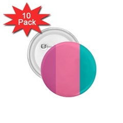 Pink Blue Three Color 1 75  Buttons (10 Pack) by Jojostore