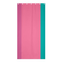 Pink Blue Three Color Shower Curtain 36  X 72  (stall)  by Jojostore