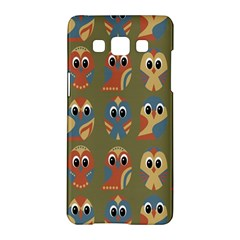 Owl Pattern Illustrator Samsung Galaxy A5 Hardshell Case  by Jojostore