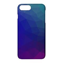 Polyart Dark Blue Purple Pattern Apple iPhone 7 Plus Hardshell Case by Jojostore