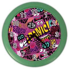 Panic Pattern Color Wall Clocks by Jojostore