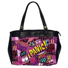 Panic Pattern Office Handbags (2 Sides)  by Jojostore