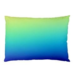 Purple Blue Green Pillow Case by Jojostore