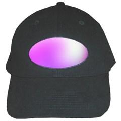 Purple White Background Bright Spots Black Cap by Jojostore
