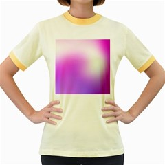 Purple White Background Bright Spots Women s Fitted Ringer T Shirts by Jojostore