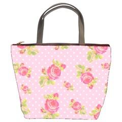Rose Pink Bucket Bags by Jojostore