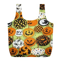 Print Halloween Full Print Recycle Bags (l)  by Jojostore