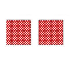 Red Circular Pattern Cufflinks (square) by Jojostore