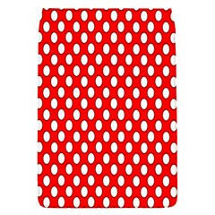 Red Circular Pattern Flap Covers (s)  by Jojostore