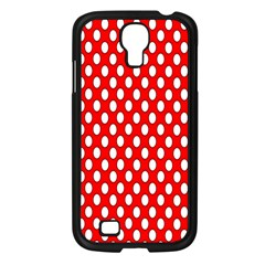 Red Circular Pattern Samsung Galaxy S4 I9500/ I9505 Case (black) by Jojostore