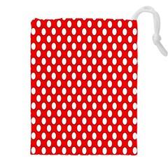 Red Circular Pattern Drawstring Pouches (xxl) by Jojostore